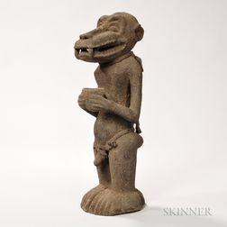 Carved Baule Monkey Spirit Figure