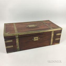 English Brass-bound Mahogany Lap Desk