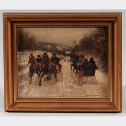 Scott (Nicholas Winfield) Leighton (Maine/Massachusetts, 1849-1898)      Passing Sleighs