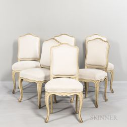 Six Louis XV-style Side Chairs