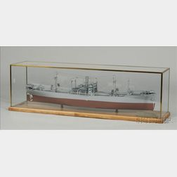 Model of  the Cargo Ship S.S. Lane Victory