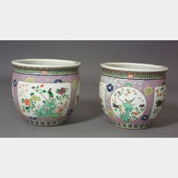 Pair of Porcelain Planters