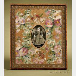 Bonnet Head Parian Doll in Frame