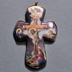 Enamel Crucifix