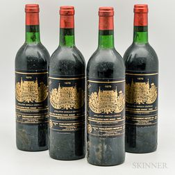 Chateau Palmer 1979, 4 bottles