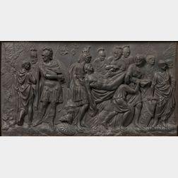 Wedgwood Black Basalt Death of a Roman Warrior   Plaque