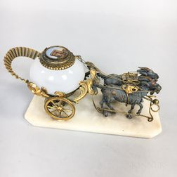 Bronze and Gilt-brass Inkwell