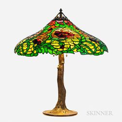 Handel Leaded Glass Shade Table Lamp and Base