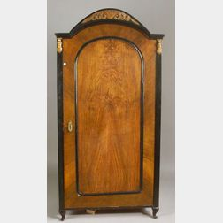 Empire-style Walnut and Carved Fruitwood Wardrobe.