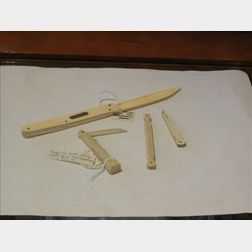 Four Ivory Vaccinating Knives