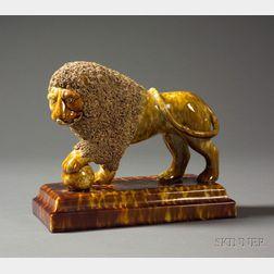 Bennington Pottery Flint Enamel Lion Figure
