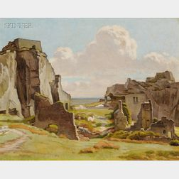 Charles H.H. Burleigh (British, 1875-1956)      Ruins/Probably a View of Corfe Castle, Dorset