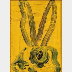 Hunt Slonem (American, b. 1951)      Yellow Bunny