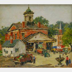 James Jeffrey Grant (American, 1883-1960)      Morning Market, Galena, Illinois