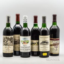 Vintage California Group, 6 bottles