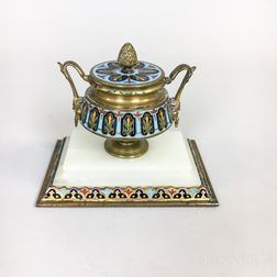 Cloisonne Urn-form Inkwell
