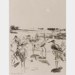 Frank Weston Benson (American, 1862-1951)  Yellow Legs in Sunlight/
