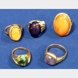 Five Stone and Cameo Rings.