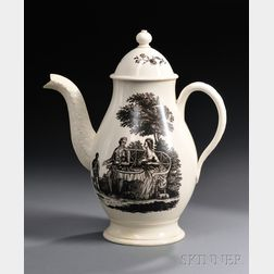 Wedgwood Queen's Ware Coffeepot and Cover