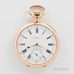 "Patek Philippe ""Chronometro Gondolo"" 18kt Gold Open-face Watch"