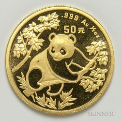 1992 Chinese 50 Yuan Gold Panda.