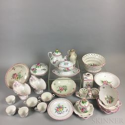 Approximately 115 Pieces of Luneville Porcelain Tableware.