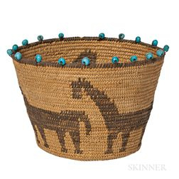 Pima Pictorial Polychrome Basket
