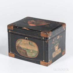 Marine Paint Decorated Wooden Box