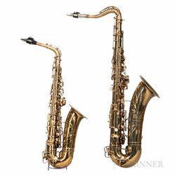 Alto and Tenor Saxophones, Holton 233 & 241, c. 1950