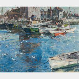 Harry Aiken Vincent (American, 1864-1931)      Fish Pier, Rockport