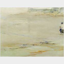 Elizabeth Wentworth Roberts (American, 1871-1927)  Morning Quiet/Figures on a Beach