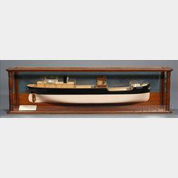 Half-Hull Boardroom Ship Model of  The S.S. Stainburn