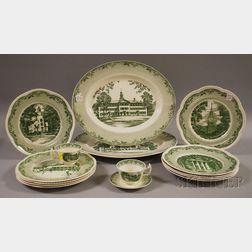 Assembled Fifteen-piece Dartmouth College Ceramic Partial Dinnerware Set