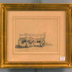 Xanthus Smith (Pennsylvania/Maine, 1839-1929)      Typical lime burner's wagon, 1859