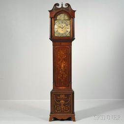 James Peddie Quarter-chiming Marquetry Longcase Clock