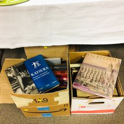 Two Boxes of Books Mostly on 20th Century Architecture.