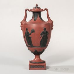 Wedgwood Rosso Antico Vase and Cover