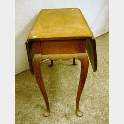 Queen Anne Cherry Drop-leaf Table.