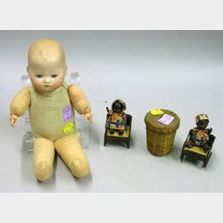 AM Dream Baby and Miscellaneous Small Doll Items