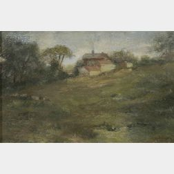 Walter Gay (American, 1856-1937)      Landscape with Farmhouse