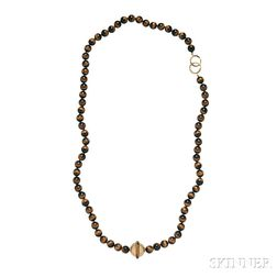 18kt Gold and Tiger's Eye Quartz Necklace, Paloma Picasso for Tiffany & Co.