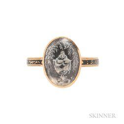 Georgian Gold and Enamel Mourning Ring