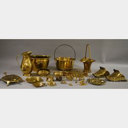 Group of Assorted Decorative Brass Items