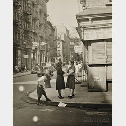 Rebecca Lepkoff (American, 1916-2014)      Lower East Side, New York City