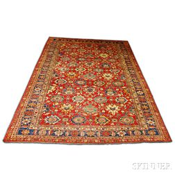 "Contemporary Room-size ""Jalli Kazak"" Carpet"