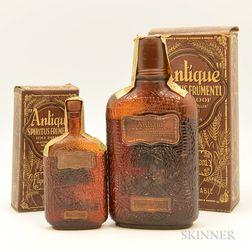 Antique Whiskey, 1 pint bottle (oc) 1 1/4 pint bottle (oc)