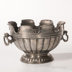 Large Pewter Monteith