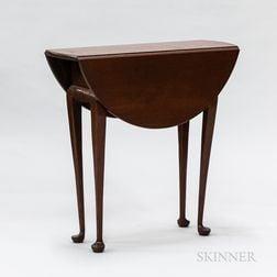 Diminutive Eldred Wheeler Queen Anne-style Cherry Drop-leaf Table