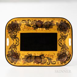 Gilt and Polychrome Decorated Tray