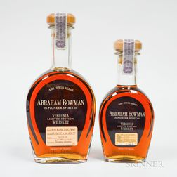 Abraham Bowman, 1 750ml bottle 1 375ml bottle